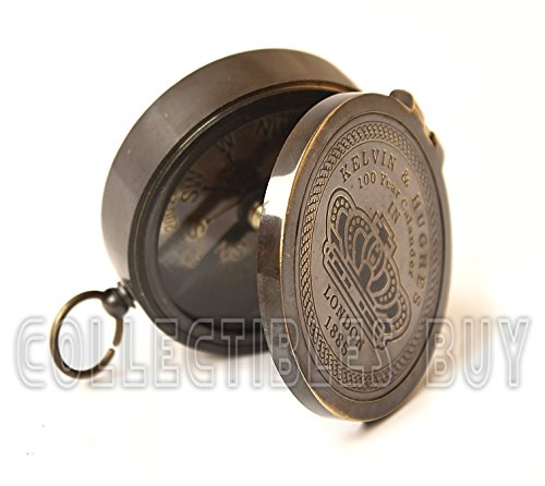 Collectibles Buy Brass compass vintage finish kelvin hughes 100 year calendar compasses lid compass