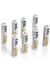EBL 8 Pack 1100mAh AAA Ni-MH Rechargeable Batteries AAA (Typical 1100mAh, Minimum 1000mAh)
