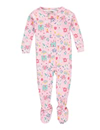 "Carter's Baby Girls' ""Flower Fox"" Footed Pajamas"