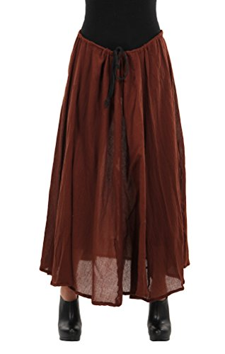 ELOPE Parachute Pirate or Steampunk Costume Skirt for Women Brown