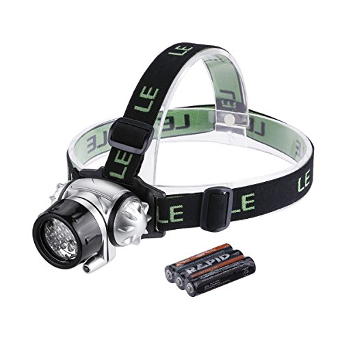 LE® Headlamp LED for Camping, Running, Hiking, Reading, 4 Modes LED Headlamps, Battery Powered Helmet Light, Hands-free Camping Headlight, 3 AAA Batteries Included
