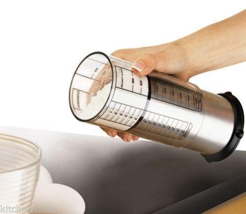 KitchenArt Adjustable 2-Cup Measure, Adjust-A-Cup Professional Series - Satin.