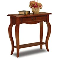 Leick French Hall Console Table, Brown Cherry