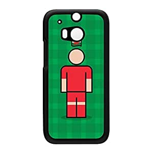 Wales Black Hard Plastic Case for HTC? One M8 by Blunt Football International + FREE Crystal Clear Screen Protector