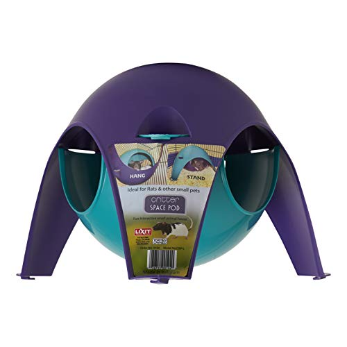 Lixit Critter Space Pod, Perfect for Small Animals, Large (Lava Dome)