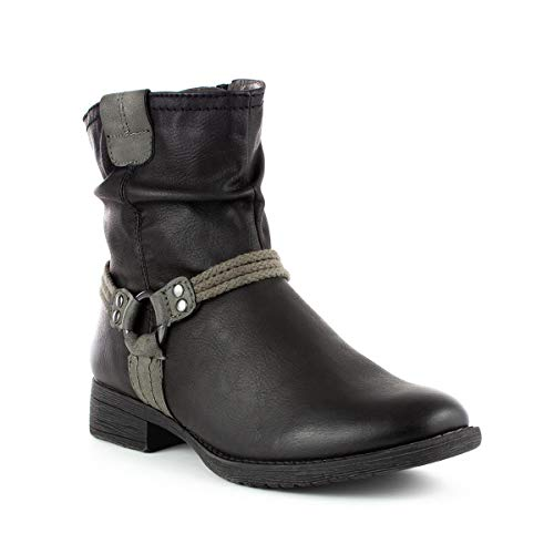 Soft Line Ankle Black Womens Rope Boot Detail qZxqPwArf