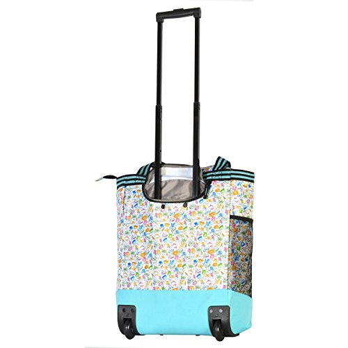 Olympia 2-Piece Rolling Shopper Tote and Cooler Bag, Beach by Olympia (Image #3)