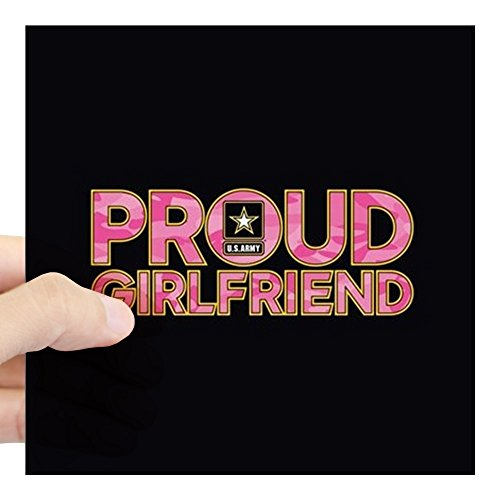 CafePress - Proud Army Girlfriend Square Sticker 3