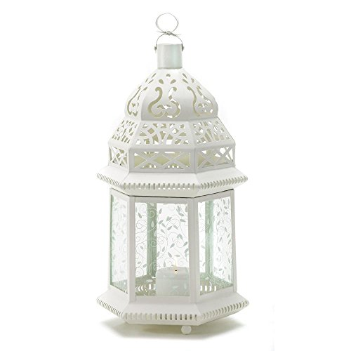 Zingz and Thingz Large Moroccan Lantern in White