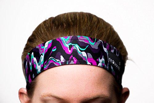 Fit Bandit, Non Slip Sports Headband for Exercise, Multi Color, Melt