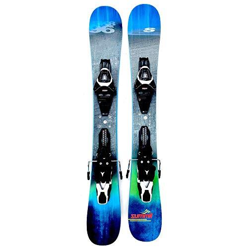 Summit Skiboards Sk8 96cm Rocker/Camber Skiboards Snowblades w. Atomic Ski Bindings
