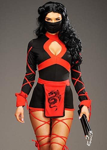 Magic Box Disfraz de Ninja del dragón Corto para Mujer S (UK 8-10 ...