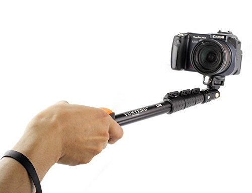 Yunteng YT-1288 Extendable Camera Shooting Handheld Monopod Tripod Mount Holder for Iphone 6plus 6 5s 5c 5 4s 4 Ipod Etc. (Model YT-1288)