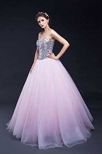 Beauty-Emily -  Vestito  - linea ad a - Donna rosa 42