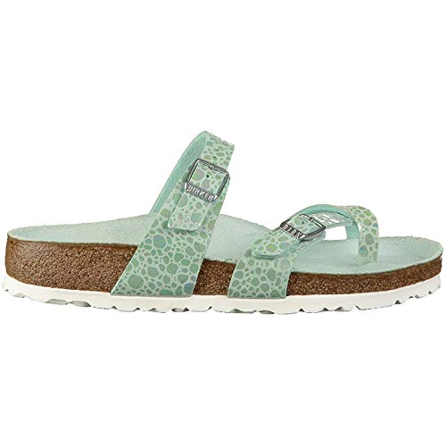 Birkenstock Unisex Mayari Birko-Flor Aqua Sandals 8 W / 6 M US