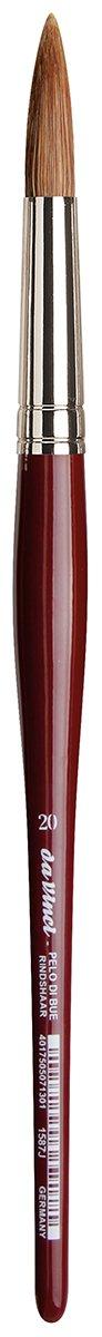 da Vinci Watercolor Series 1587J Paint Brush, Round Light Ox Sabeline Hair, Size 20