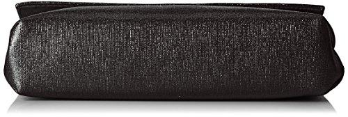 Menbur Damen Abetone Clutch, 5x14x22 cm Schwarz (Schwarz)
