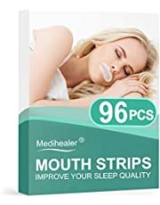 Medihealer 96PCS Sleep Strips, Mouth Strips for Mouth Breathers for Better Nose Breathing&Less Mouth Breathing,Mouth Tape for Snoring Relief,Gentle Sleep Mouth Tape for Good Sleep&Dry Mouth/Throat Relief