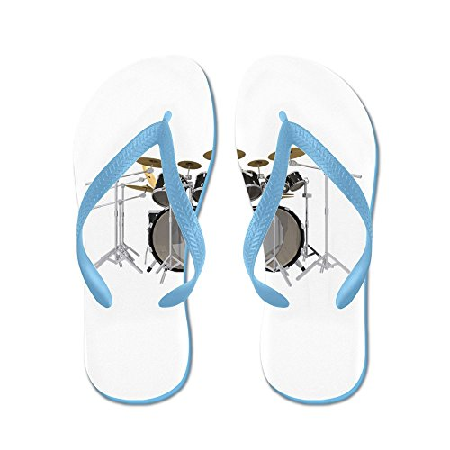CafePress Large Drum Kit: Black - Flip Flops, Funny Thong Sandals, Beach Sandals Caribbean Blue