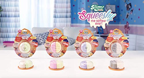 Joker Entertainment SL32200 Slimy Squeeshy Bakery Series Scented 4 Assorted Slime, Marzipan Lime,Strawberry Banana,Vanilla Blueberry ()