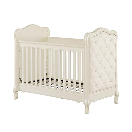 Baby Knightly 3-in-1 Upholstered Crib, Antique White - Antique White Crib