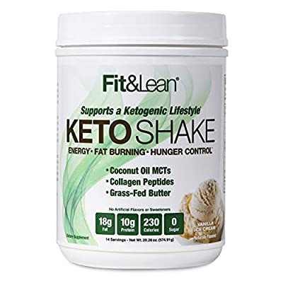 Fit & Lean Keto Shake Ketogenic Meal Replacement Powder