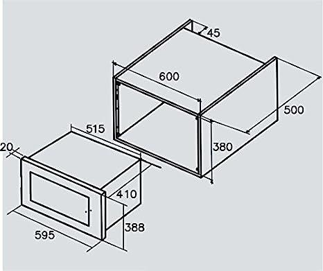 CATA Modelos MC 25 D Microondas MC25DENC, 25L, 900 W, Acero ...