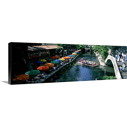 GREATBIGCANVAS Gallery-Wrapped Canvas Entitled River Walk San Antonio TX by 60