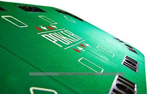 180cm Masters Traditional Games Large Folding Poker Table Top