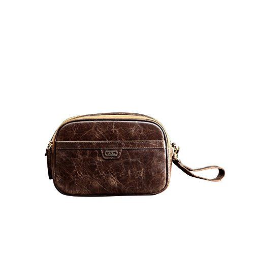 Lazzaro Leather AYL Condesa Toiletry Bag Brown by Lazzaro Leather
