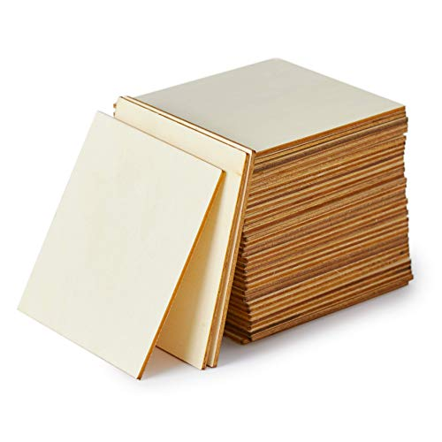 Wood Squares for Crafts, 36-Count Unfinished Wooden for sale  Delivered anywhere in USA