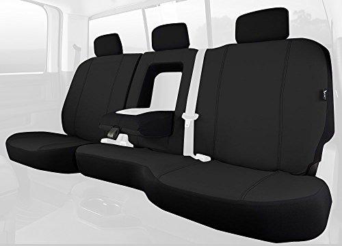 Fia SP82-92 BLACK Custom Fit Rear Seat Cover Split Seat 60/40 - Poly-Cotton, (Black)