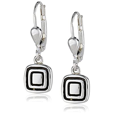 Wholesale Zina Sterling Silver Etched Square Earrings supplier