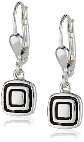 Zina Sterling Silver Etched Sq