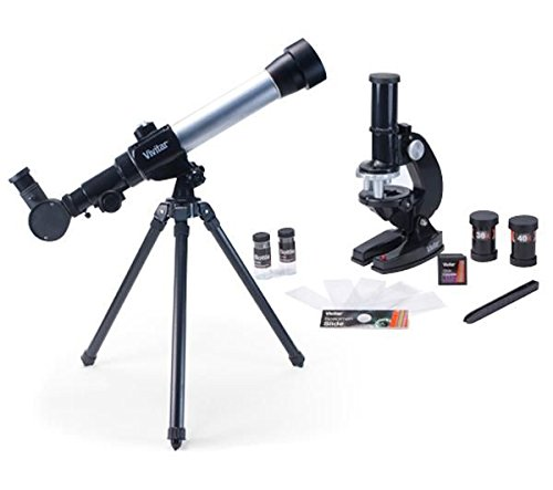Vivitar VIV-TELMIC-20 20x/30x/40x Telescope and Microscope Kit (Black) by Vivitar