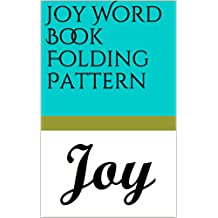 Joy Word Book Folding Pattern