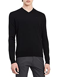 Men's Merino Sweater V-Neck Solid