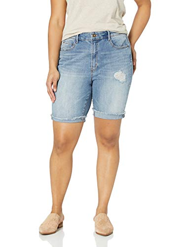 Jessica Simpson Women's Plus Size Venice Cut Off Short, Sylvie - Destruction/Fray Cuff 20W