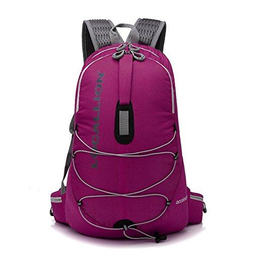 Wewod 25L Senderismo de Daypacks Mochila de Deportes Al Aire Libre Mochila de Senderismo Mochila Bolsas Bolsa Resistente Al Agua para Viajes Alpinismo Ciclismo 31 x 46 x 16 cm (L*H*W) (Púrpura) Rose Red