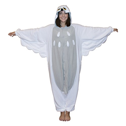 Snowy Owl Kigurumi (Adult, (Owl Costume For Adults)