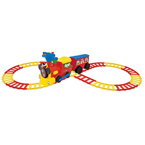 Kiddieland Toys Limited Battery-Powered Mickey Choo with Caboose & Tracks Ride On (Mickey Mouse Battery Powered Ride On Toy)