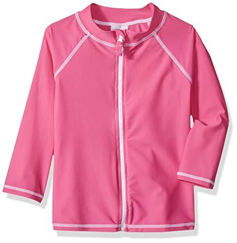 Flap Happy Toddler Kids UPF 50+ Zip Front Swim Jacket, Azalea Pink, 6