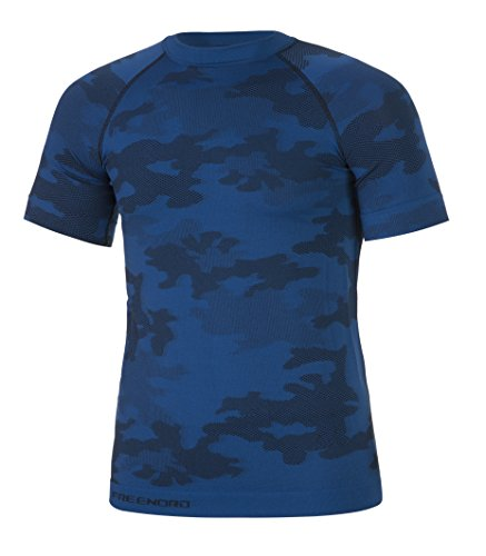 Freenord Tactical Herren Funktionswäsche Thermoaktiv Atmungsaktiv Base Layer Kurzarm Moro Military Angeln
