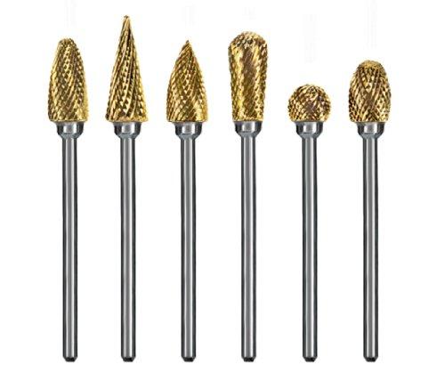 Dedeco 8100 Goldies Carbide Burs Fine-Cut (Pack of 6) by Dedeco