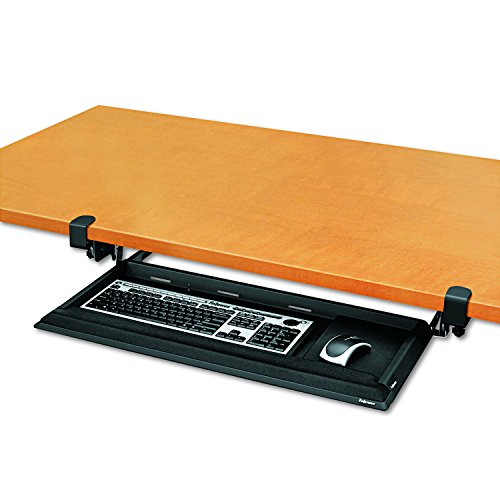 Learning Resources 8038302 Fellowes Designer Suites Desk Ready Keyboard Drawer (Clamp Keyboard Trays)