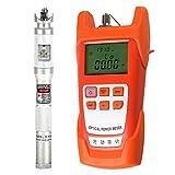 SM SunniMix 1Set -70dBm~+10dBm 850~1625nm Optical Power Meter Tester FC SC Handheld Optical Power Meter + 20mW Visual Fault Locator Pen Silver
