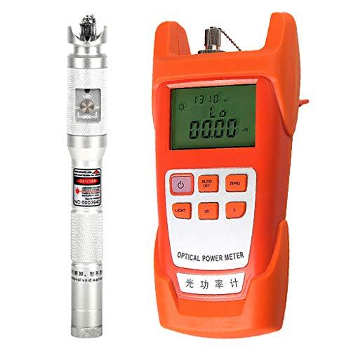 SM SunniMix 1Set -70dBm~+10dBm 850~1625nm Optical Power Meter Tester FC SC Handheld Optical Power Meter + 20mW Visual Fault Locator Pen Silver by SM SunniMix (Image #8)
