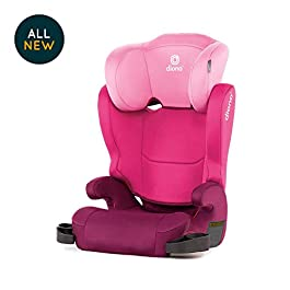 Diono Cambria 2 High-Back Booster Seat, Group 2/3 (15 – 36 kg and Up to 160 cm In Height), Approx. 4-12 Years, Pink (Discontinued by Manufacture)