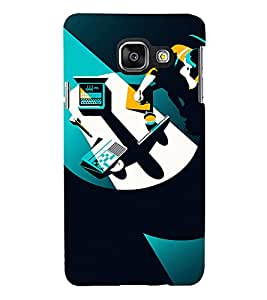 PrintVisa Corporate Work Design 3D Hard Polycarbonate Designer Back Case Cover for Samsung Galaxy A3 (2016)