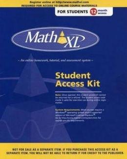 Mathxl Student Access Kit 12 Month Access